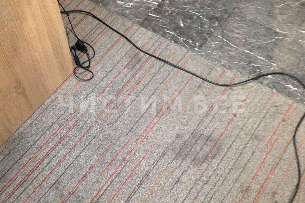 Химчистка офисного ковролина для постоянного клиента
