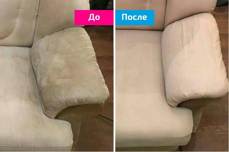 Чистка дивана и диванных подушек на дому у постоянных заказчиков