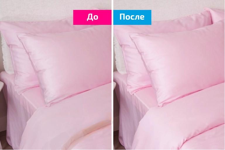 постельное бельё до после