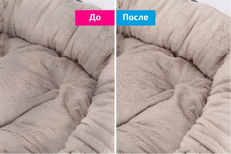 Химчистка собачьих лежаков для заводчицы Шпицев